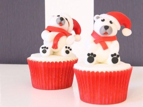 C 243 Mo Decorar Deliciosos Cupcakes De Navidad Youtube