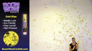 Gold Metallic Slip - BoomWow Confetti Cannons