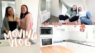 moving vlog #1 | finding our new home + empty house tour!!