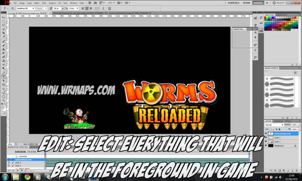 Worms reloaded beginners map making tutorial guide hd youtube worms reloaded beginners map making tutorial guide hd gumiabroncs Images