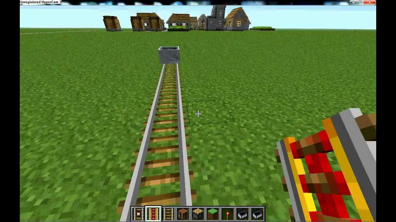 How do you make a powered minecart track in minecraft