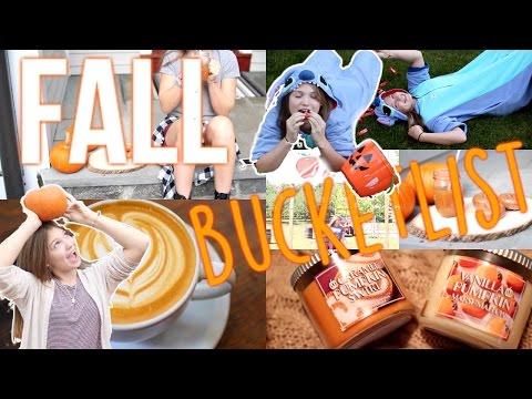 Fall Bucketlist! Fun Things to Do In the Fall!