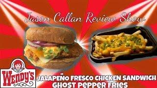 Wendy's Ghost Pepper Fries & Jalapeno Fresco Spicy Chicken Sandwich