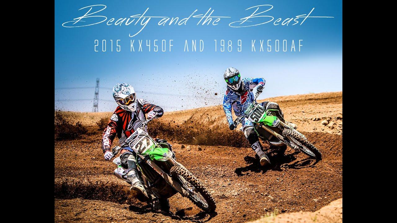 Beauty and the Beast - 2015 KX450F and KX500AF test