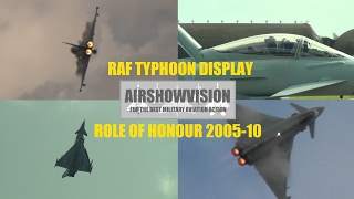 RAF TYPHOON DISPLAY 2012 BUILD UP - Part 2: THE ROLL OF HONOUR (airshowvision)