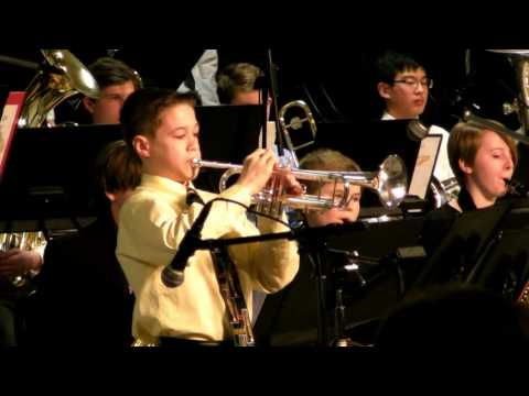 MY FUNNY VALENTINE MIDDLE SCHOOL JUNIOR HIGH TRUMPET SOLO TEDDY HOUSEMAN JAZZ STAGE BAND DAVE WOLPE