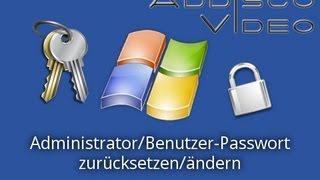 Windows: Administrator/Benutzer-Passwort zurücksetzen/ändern thumbnail