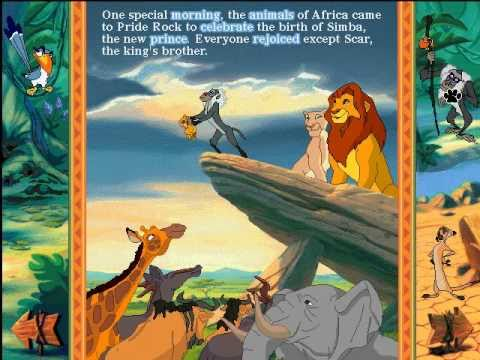 disney animated storybook the lion king part 1 youtube