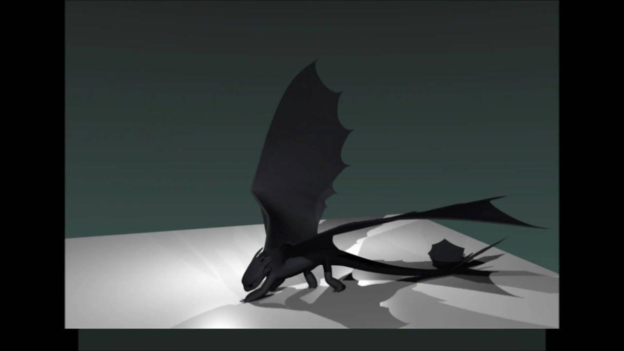 Blender Night Fury Dragon 3d Model WIP - YouTube - photo#25