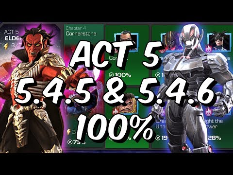 Act 5 Chapter 4 - 5.4.5 & 5.4.6 100% - Free To Play Adventures! - Marvel Contest Of Champions