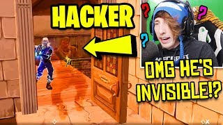I KILLED AN INVISIBLE FORTNITE HACKER! (Fortnite Invisible Glitch !?) | Fortnite Battle Royale