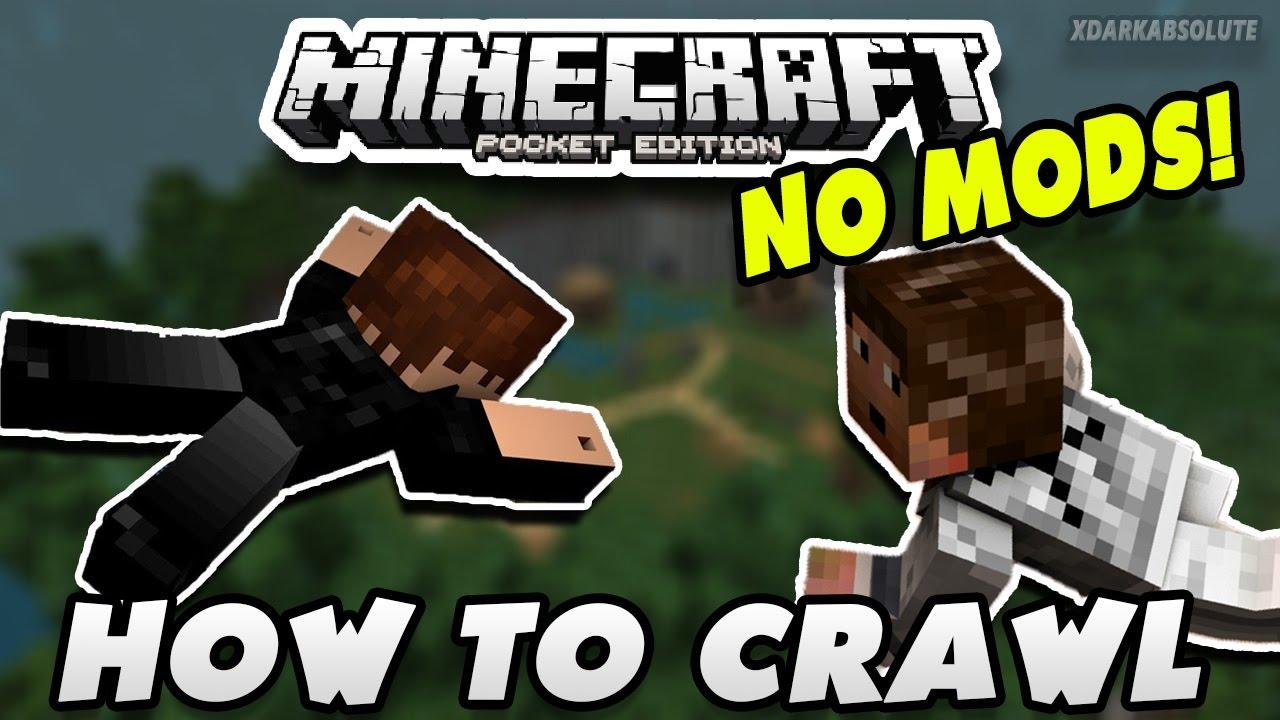 HOW TO CRAWL IN MINECRAFT PE!! - MCPE 0 17 0 - 1 0