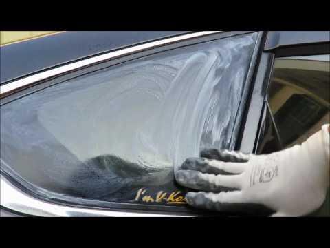 車子笑了carsmile-DIY玻璃水痕清除  無剪接  一鏡到底