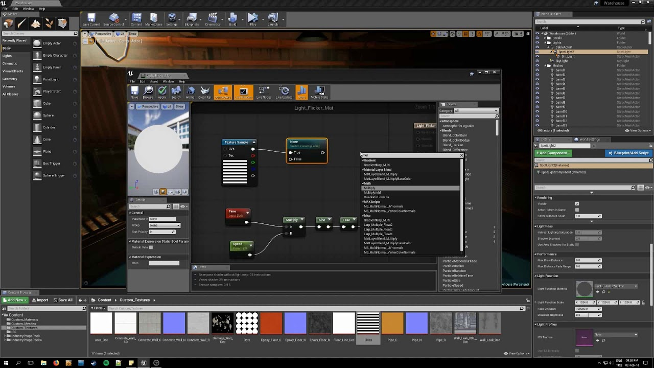 Lighting with Unreal Engine 4 - Episode 12 - Adding Texture to Light