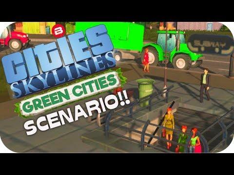 Cities: Skylines Scenario ▶OILY SUBWAY◀ Green Cities DLC Scenario Clean Up Crew Part 8