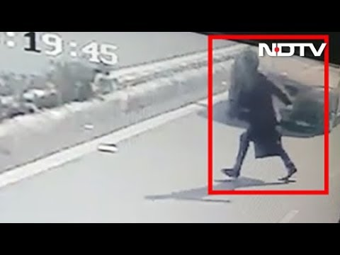 CCTV Shows 50-Year-Old Flung In Air In BMW Hit-And-Run By Delhi Student