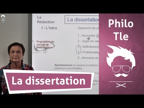 Dissertation : Lintroduction - Cours de Philosophie - Terminale