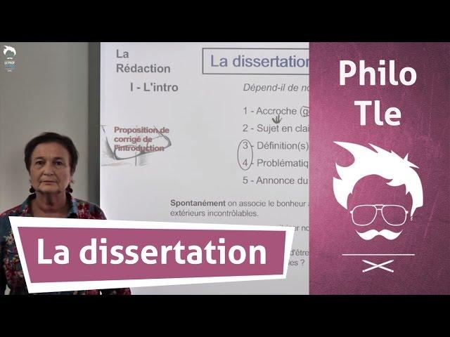 Dissertation de philo annonce du plan