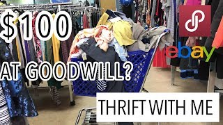Thrift With Me For Poshmark eBay Relovv & Mercari Goodwill Clothing Haul For Resellers Thrifting