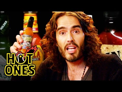 Russell Brand Achieves Enlightenment While Eating Spicy Wings  Hot Ones