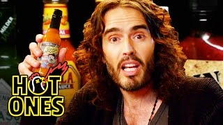 Russell Brand Achieves Enlightenment While Eating Spicy Wings | Hot Ones thumbnail