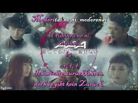 「Aishiteru no ni, Aisenai」by AAA Full Lyrics (Japanisch/Deutsch)