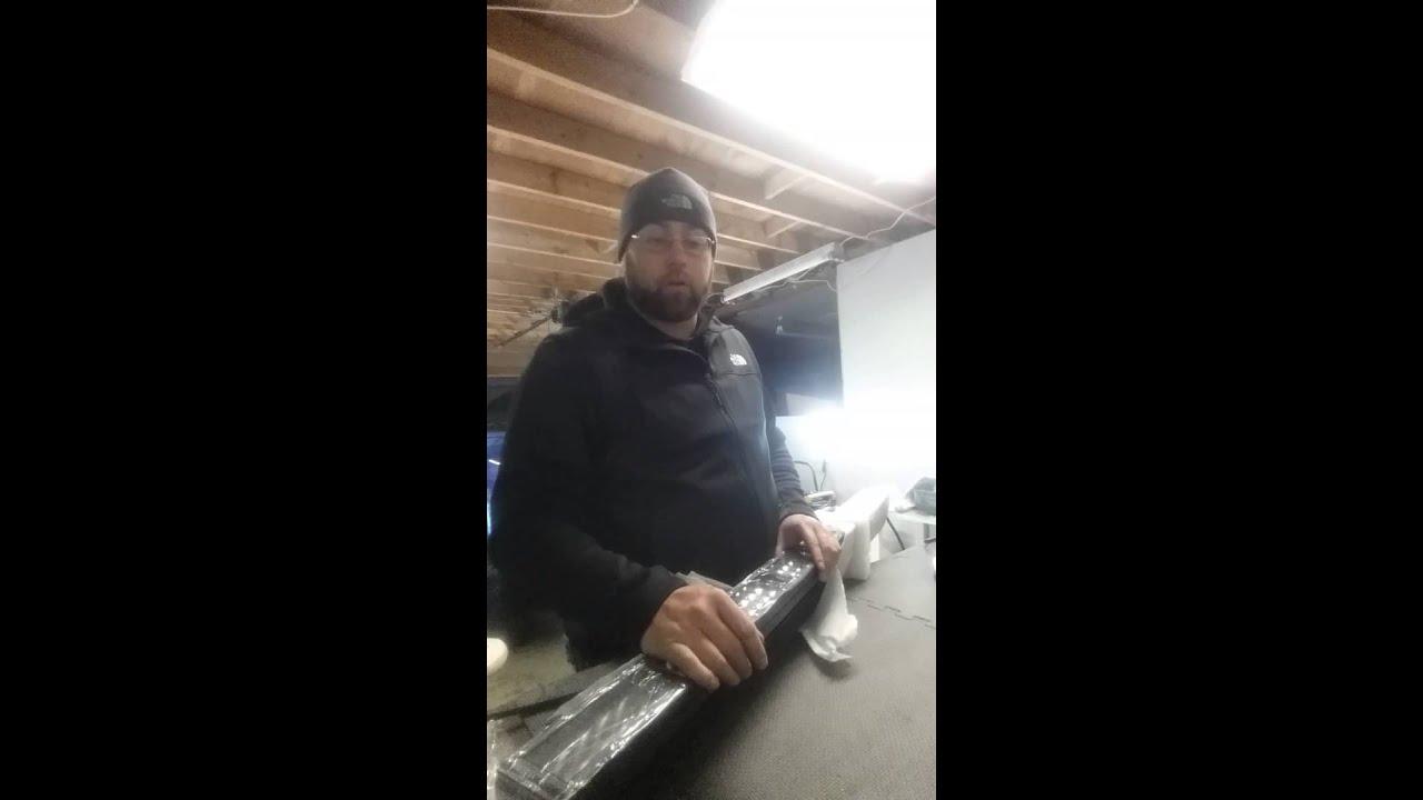 "MRL Lighting LUMInati 50"" LED light bar unboxing - YouTube"