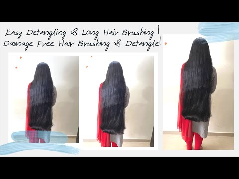 ASMR Hair Brushing & Detangling | How to: Detangle & Brush Long Straight Hair |DIY Tangle Free Hair