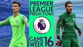 EPL Week 16 Premier League Football Score and Results Predictions 2018/2019