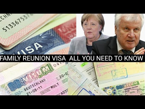 GERMANY  FAMILY REUNION  VISA  TO JOIN RELATIVES OR PARTNER IN GERMANY