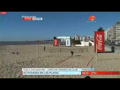 Programa de Deporte en las playas de la Intendencia de Montevideo - Verano 2016