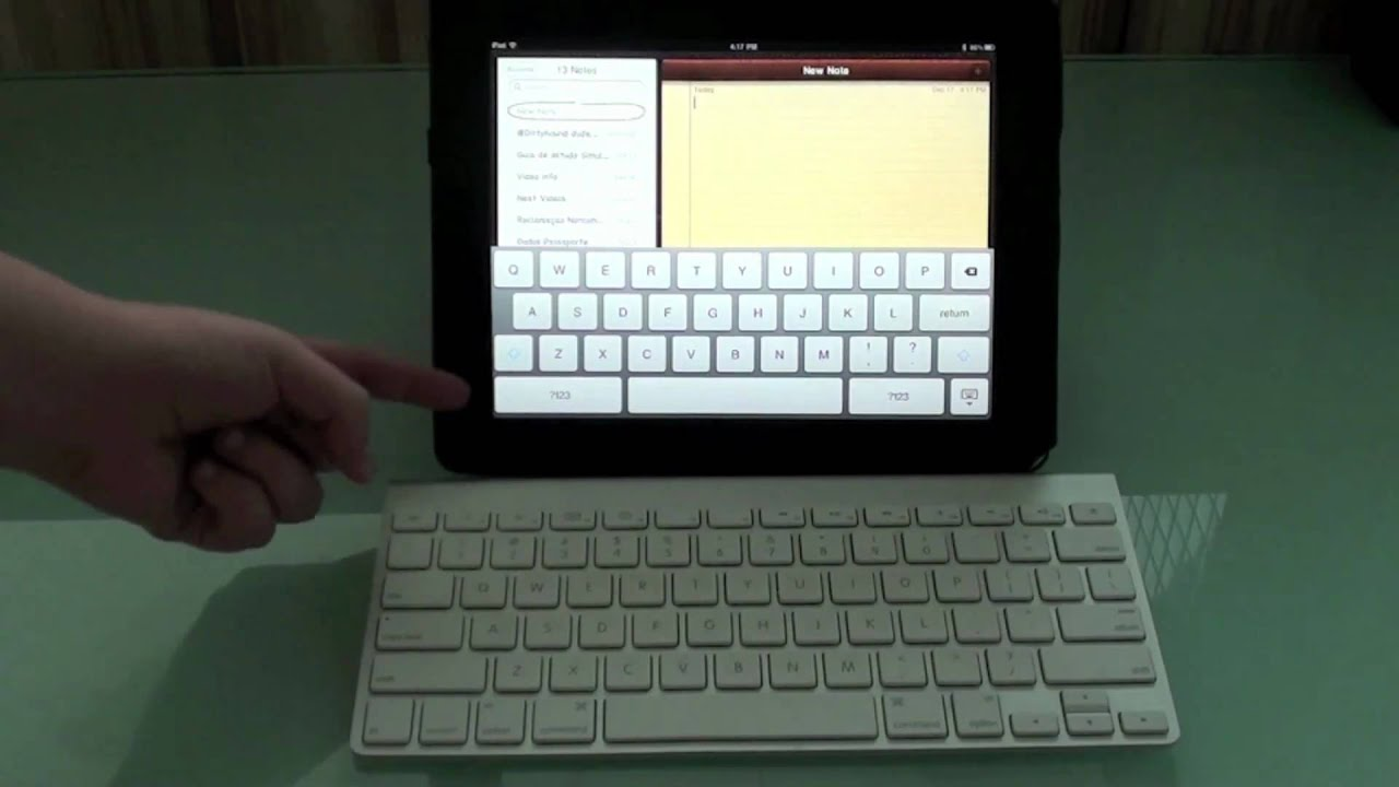 how to connect apple wireless keyboard on ipad youtube. Black Bedroom Furniture Sets. Home Design Ideas