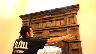 ENTRY DOOR MAKEOVER !!! KNOTTY ALDER DOOR CASING