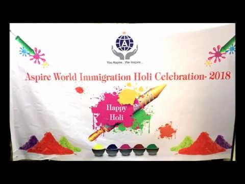 "Aspire World Immigration Consultancy Services LLP ""Holi Festival Celebration 2018"""