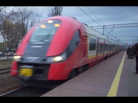 Poland, train ride from Warszawa Rembertów to Warszawa Śródmieście