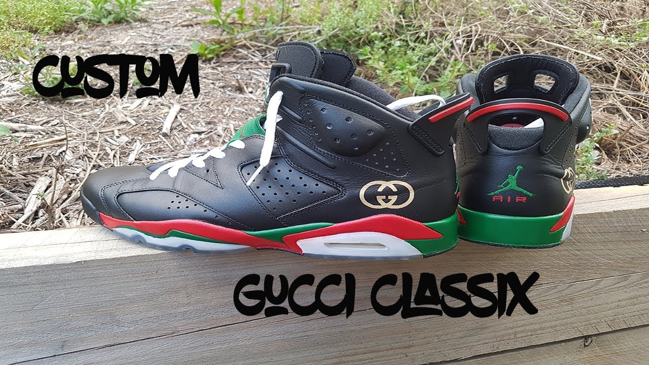 Custom Air Jordan 6 Gucci