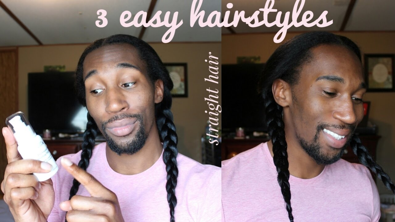 3 Easy Hairstyles For Straight Natural Hair Bun, Half Up
