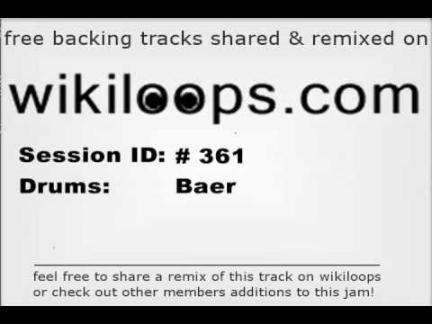 Blues Drums 80bpm Backing Track | play along @ wikiloops.com