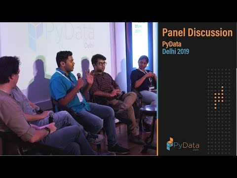 Image from Panel Discussion @ PyData Delhi 2019