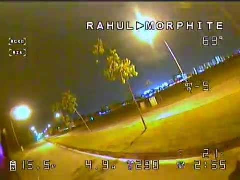 RunCam owl plus on Morphite X155 - Night flying #1