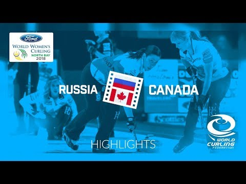 HIGHLIGHTS: Russia v Canada – Round-robin – Ford World Women's Curling Championship 2018