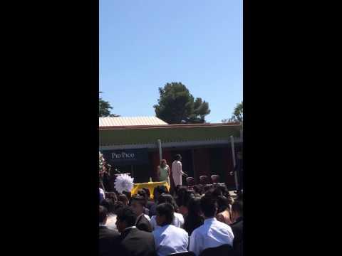 Mando 8th grade culmination Pio Pico middle school