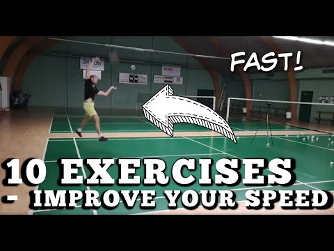Badminton: GET FASTER! - 10 Exercises To Improve Your Speed!