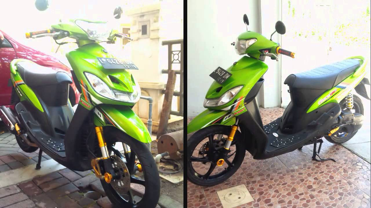 terbaru modifikasi motor mio sporty simple