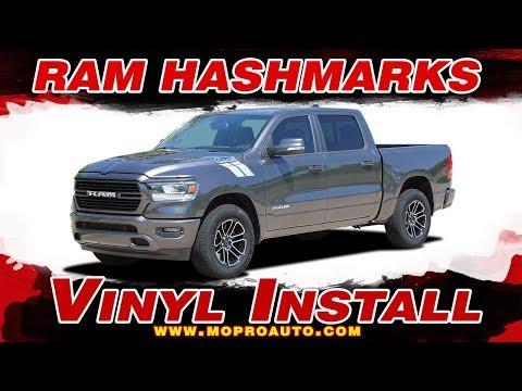 2019 2020 Dodge Ram Stripes   Ram HASHMARKS Decals   Vinyl Graphics Installation of Dodge Ram Vinyl