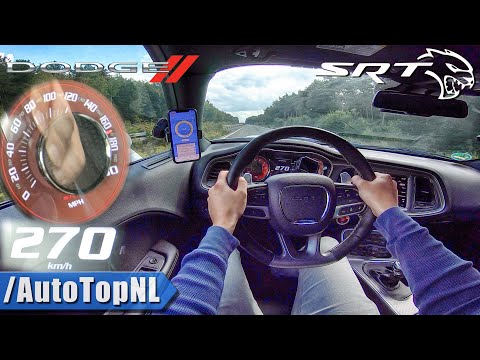 DODGE Challenger HELLCAT 727HP on AUTOBAHN (No Speed Limit) by AutoTopNL