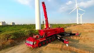 權順重機 GOTTWALD AMK 1000-103北部風車吊掛作業