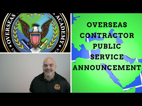 Overseas contractor : Public Service Announcement