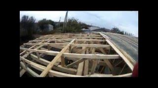 Односкатная крыша 21✕12м. Строим гараж_склад
