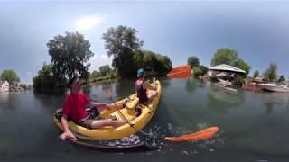 Kayak through Detroit Canals in 360
